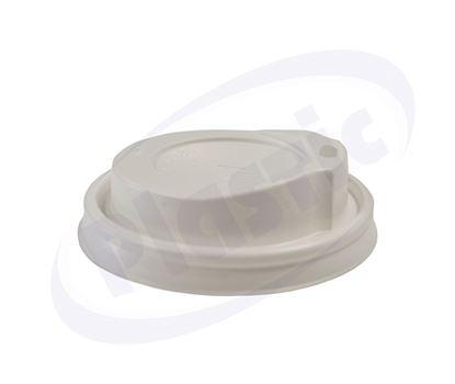 Снимка на Капак за топла напитка Ф80 бял, СЛ037, 10x100бр.