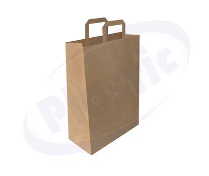 Снимка на Хартиена чанта 28+12/33 см кафява 8х25 бр. ПС