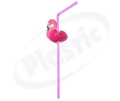 Снимка на Сламка с Фламинго 50бр/кут