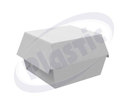 Снимка на Картонена кутия за хамбургери 13/12/4 см, 50 бр./стек
