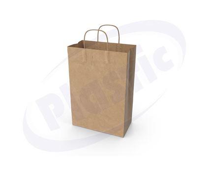 Снимка на Хартиена чанта 20+8/24 см кафява 9х25 бр. ПС