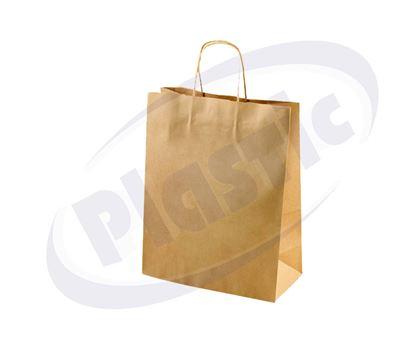 Снимка на Хартиена чанта 20+8/24 см кафява Н200 9х25 бр. ЕП