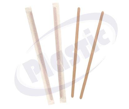 Снимка на ФЛ Бъркалки дървени ед. опаковани 110мм 20х500бр.