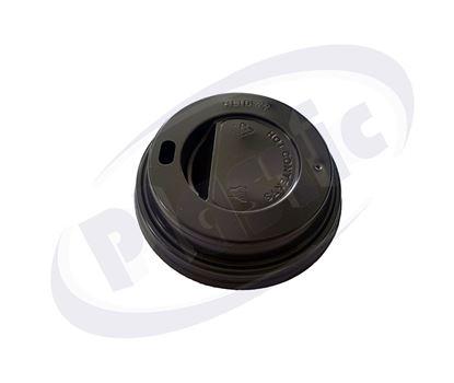 Снимка на Капак за топла напитка Ф72 черен ЛСТ 72 10х100 бр./кашон