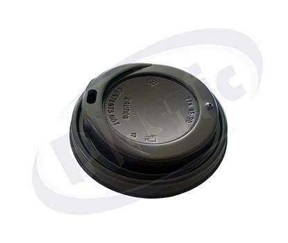 Снимка на Капак за топла напитка Ф90 черен 12-16oz 20х100бр/к