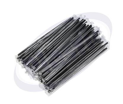 Снимка на Сламки ед. опаковани ф5/24 см черни 10х1000 бр./чувал