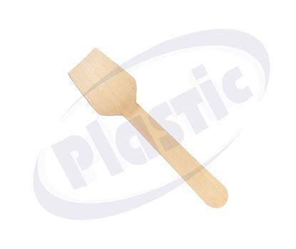 Снимка на Дървени лъжички сладолед ед.опак. 95мм 50х100бр/к
